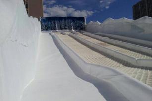 Tobogán de hielo sintético